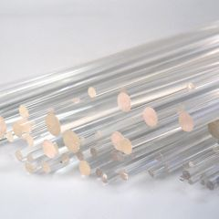 PACK - CLEAR ROUND ACRYLIC ROD (86 PIECES)