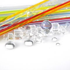 PACK OF 125 PIECES OF CLEAR & COLOURED RODS