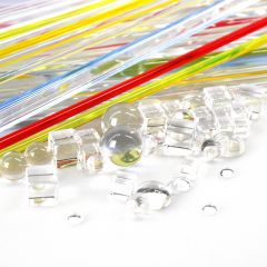 PACK OF 86 PIECES OF CLEAR & COLOURED RODS
