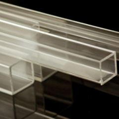 CLEAR SQUARE ACRYLIC TUBE