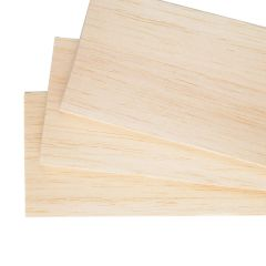 BALSA SHEET - 100MM WIDE - THIN SHEETS