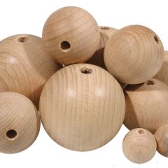 WOODEN BALLS WITH HOLES