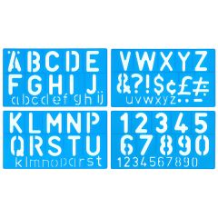 UPPER & LOWER CASE STENCIL SET