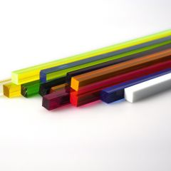 COLOURED SQUARE ACRYLIC ROD