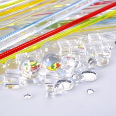 PACK OF 77 PIECES OF CLEAR & COLOURED RODS