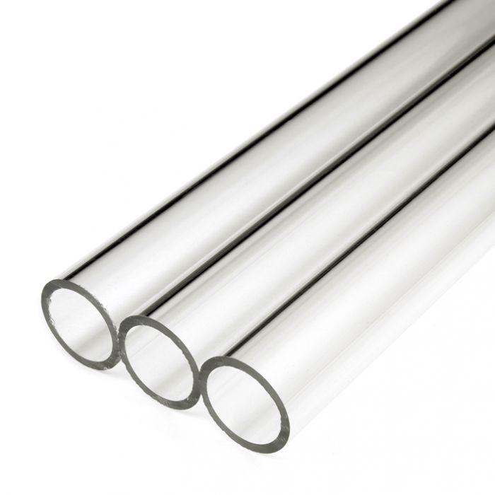 250mm Length Clear Perspex Acrylic Round Tube Plastic Cut Plexiglass 8mm-20mm OD